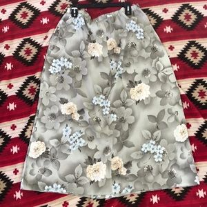 Tan Jay women's floral skirt size 18